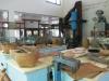 園區內展示的昔日農具(柯武村攝)