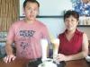 蘇麗敏、張智程母子,合力經營東照山咖啡。