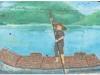 嶺下昔日地名為「上路頭渡」,可搭乘竹筏前往「阿里港」。〈劉己玄攝〉