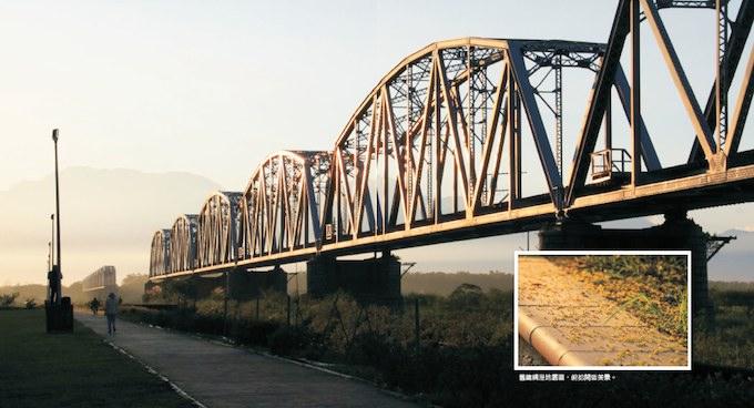 迎迓舊鐵橋朝陽